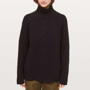 Lululemon Bring The Cozy Turtleneck Black Size 8